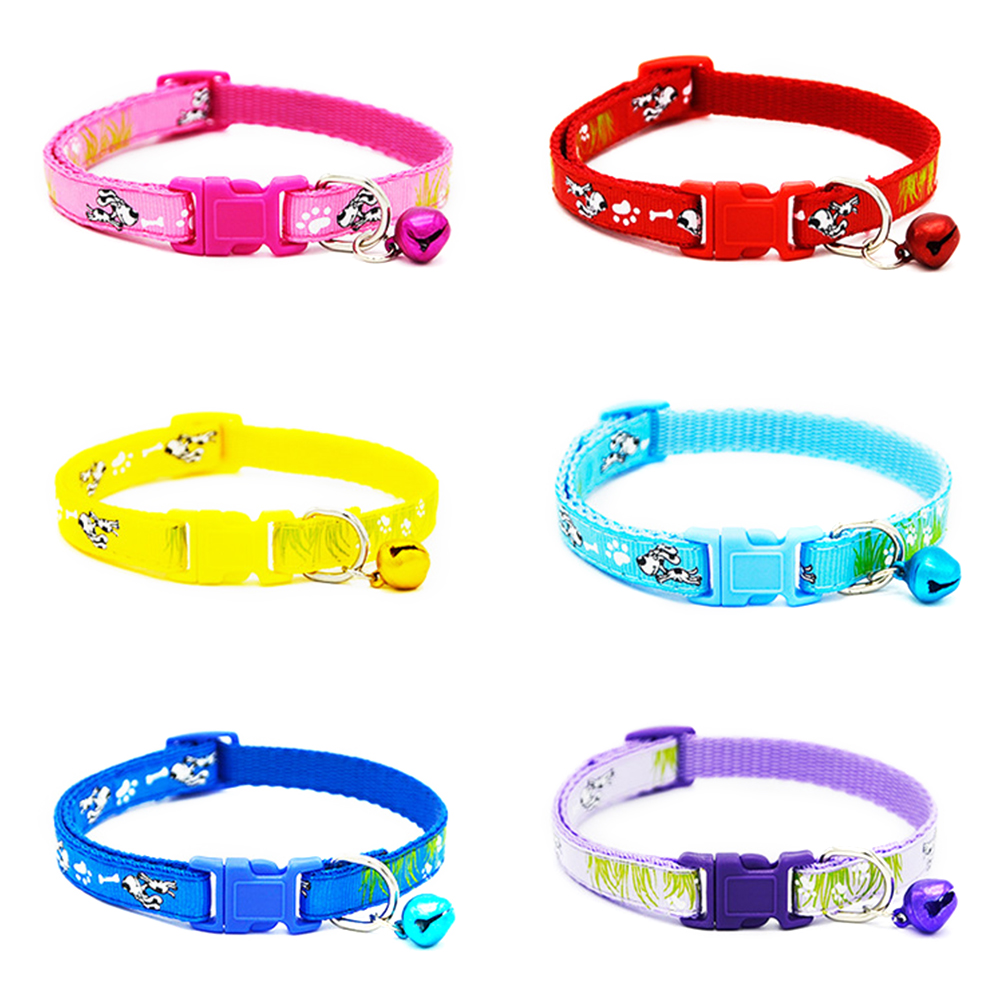 6 Cat Collar Breakaway Collar For Cats With Bell Cat Collars Adjustable Quick Release Puppy Collar Chihuahua Cat Leash Pet Product (7)