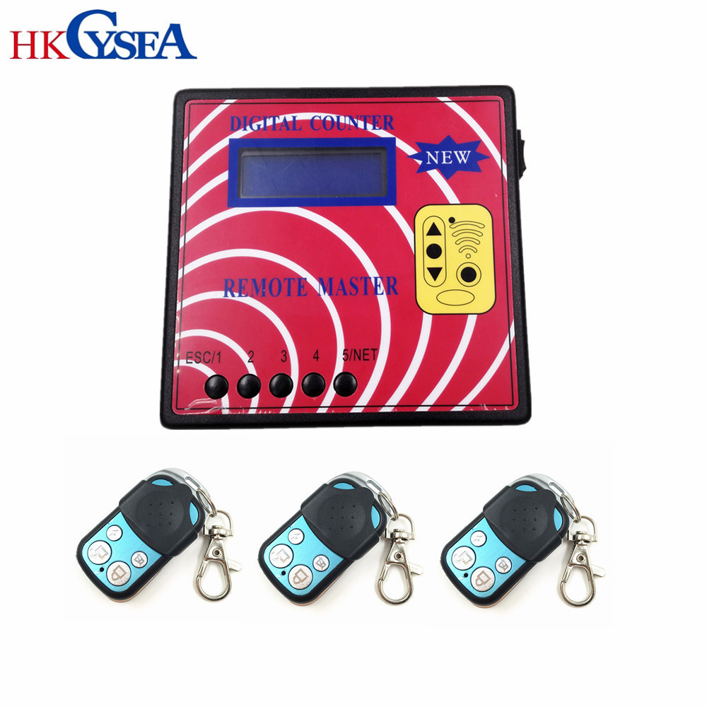 Newest Remote Control Key Copier Digital Counter Remote Master Wireless RF Remote Controller With 3pcs Remotes For Key Lock Shop