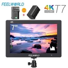 Feelworld T7 7 Zoll IPS 1920x1200 HDMI Auf Kamera Feld Monitor Unterstützung 4K Eingang Ausgang Video Monitor + NP750 Batterie + Ladegerät