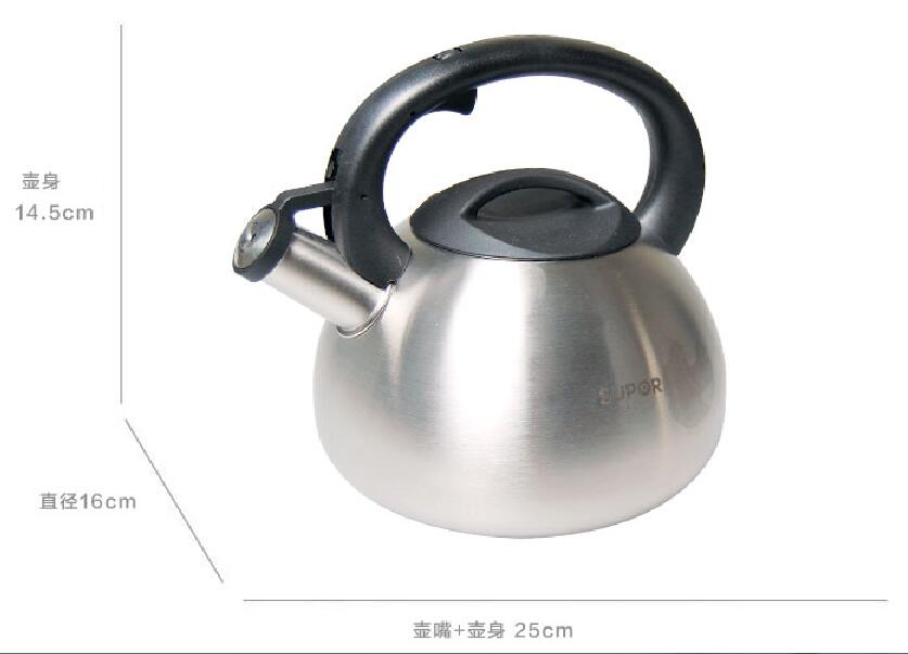 3.5L Stainless Steel Whistling Kettle Fashion Creative Teapot High Quality Water Kettle Home Kitchen Cooker