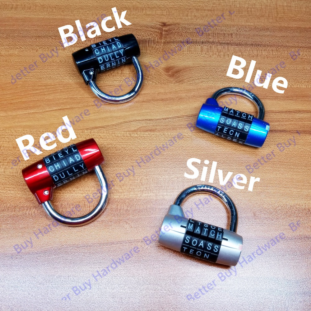 Sliver Color Mini 5 Letter Combination Password Code Padlock Door Lock Travel Luggage Cases Boxes Mailboxes Lock Suitcase