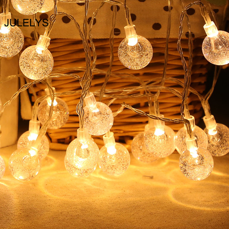 Battery Operated Garland LED Christmas Lights Decoration ...