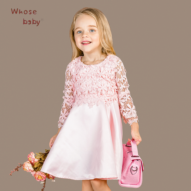 f84f5cf5fe08 Girl Winter Lace Elegant Party Dresses For Kids Wedding Halloween Cute  Costumes Children Autumn Clothes Vestidos Chica Gimnasia-in Dresses from  Mother   ...