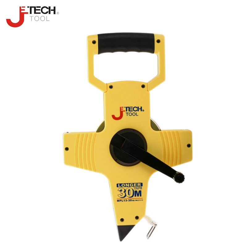 Jetech long abrasion resistant 30m 50m metric scale open reel long steel measure tape ruler scale for plumbing tool tools цена