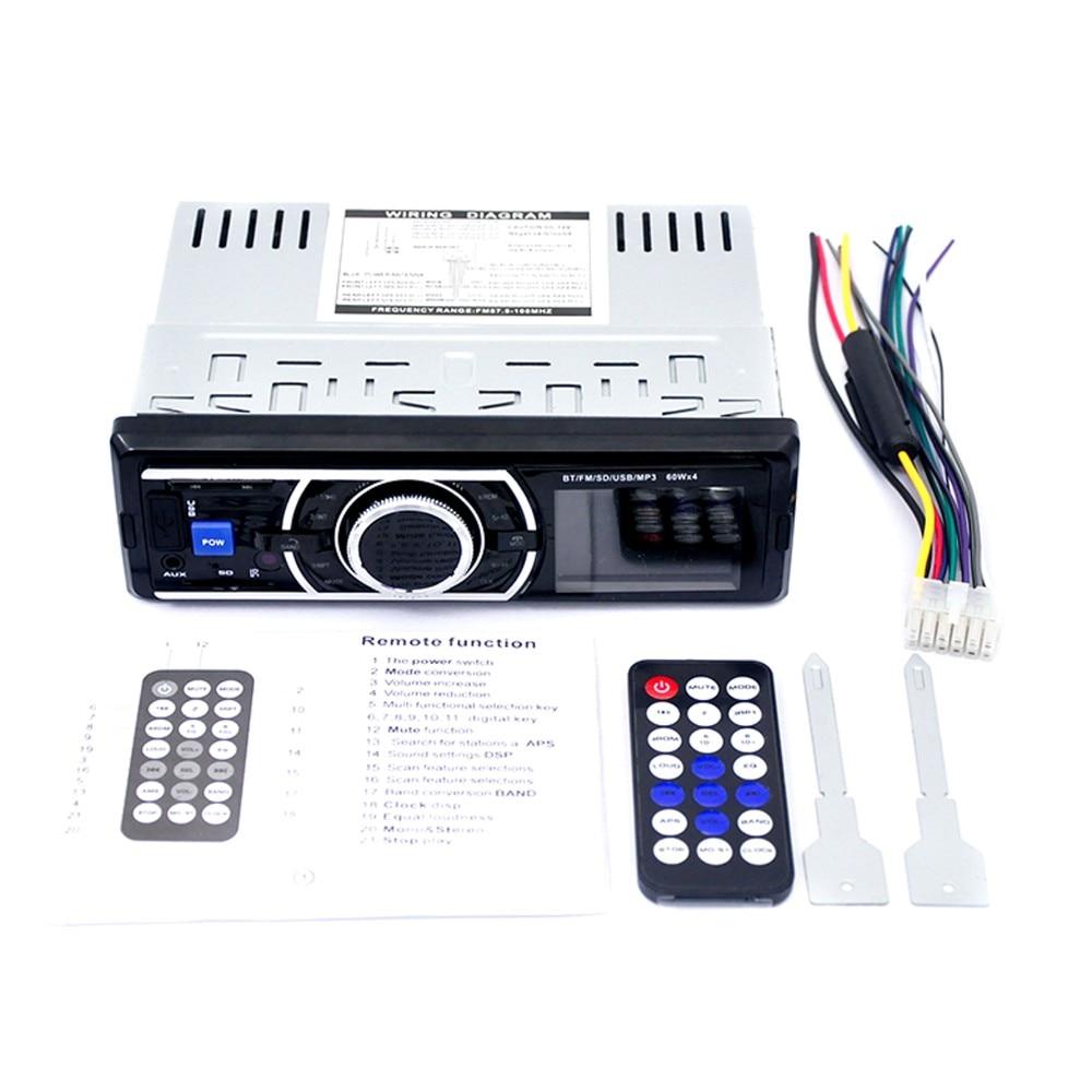 fm rádio entrada aux receptor carro handsfree sd usb com controle remoto