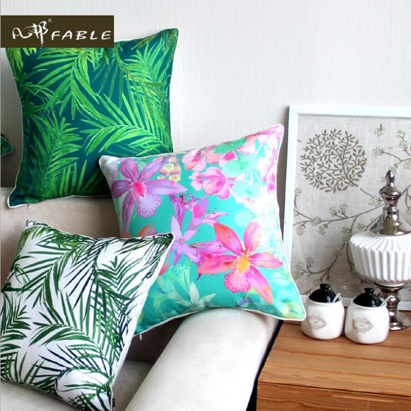 A marker less pillow case freehand christmas pillow Polyester fabric pillow cover size 45x45cm free shipping in Pillow Case from Home Garden