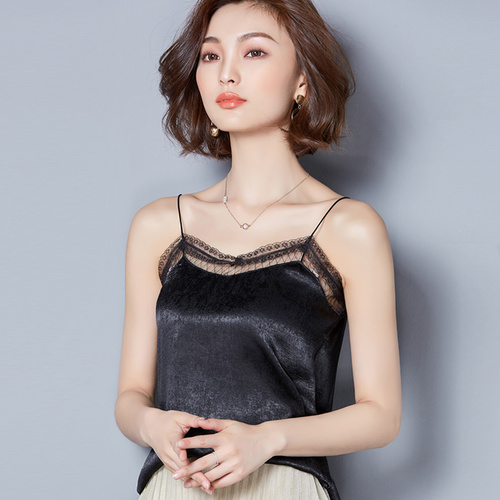 Off Shoulder Black White Crop Tops Women <font><b>Haut</b></font> <font><b>Sexy</b></font> Lace Patchwork Tank Top Halter Top Crop Summer Ladies Tops For Women 2018 image