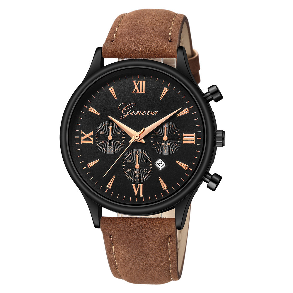 Fashion Ladies new geneva watches Luxury Quartz Sport Military Stainless Steel Dial Leather Band Wrist Watch reloj mujer 40y thumbnail