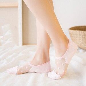 5 pairs النساء الجوارب جميلة كريستال الحرير السيدات مثير الصلبة لون الحلوى رقيقة الجوارب الصيف تنفس دائم الأزياء الإناث جورب
