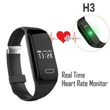 Inteligente de pulsera smartband H3 monitor de ritmo cardíaco reloj de la aptitud a prueba de agua Gimnasio Rastreador Pasómetro pulsera inteligente PK mi banda