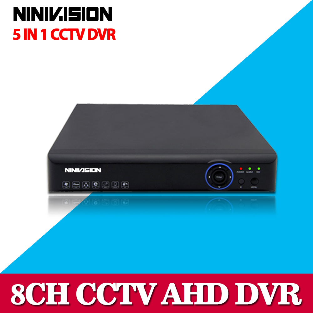 ФОТО 1080P AHD DVR 8 channel HDMI 1080P 8ch Hybrid AHD DVR HVR NVR Onvif for security ip camera P2P function CCTV DVR Recorder