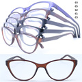 Wholesale JH1185 simple fashion style color gradiently full-rim cateye arder with flexi hinge TR90 optical frames free shipping