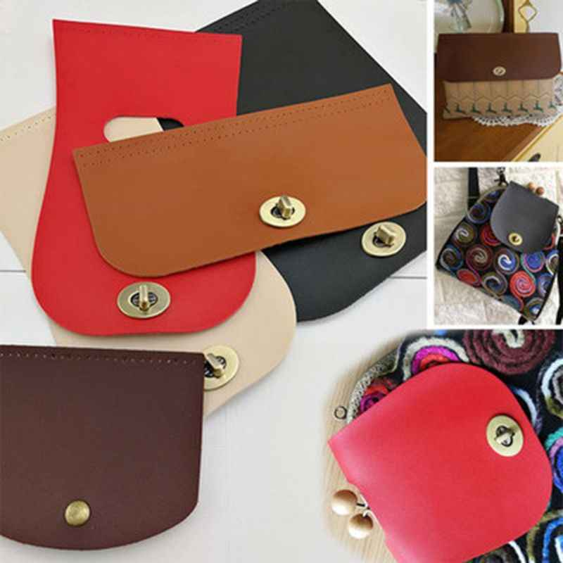 New Arrival Fashion 1 Pc Shoulder Bag Flap Cover Replacement for Women Handbag DIY Craft Accessories Decor 5 Colors