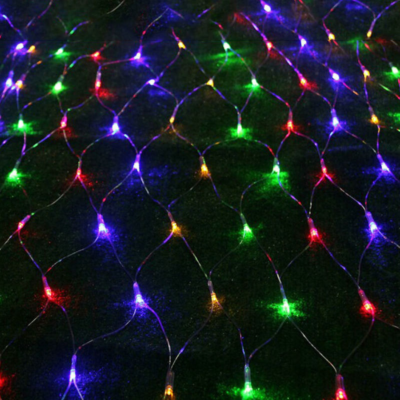new product cecc5 50f9b US $14.77 13% OFF|3M*2M 320LEDs Giant Net Light fairy string mesh web  curtain lamp Christmas Xmas Wedding Party Garland Garden tree decor 4  Colors-in ...