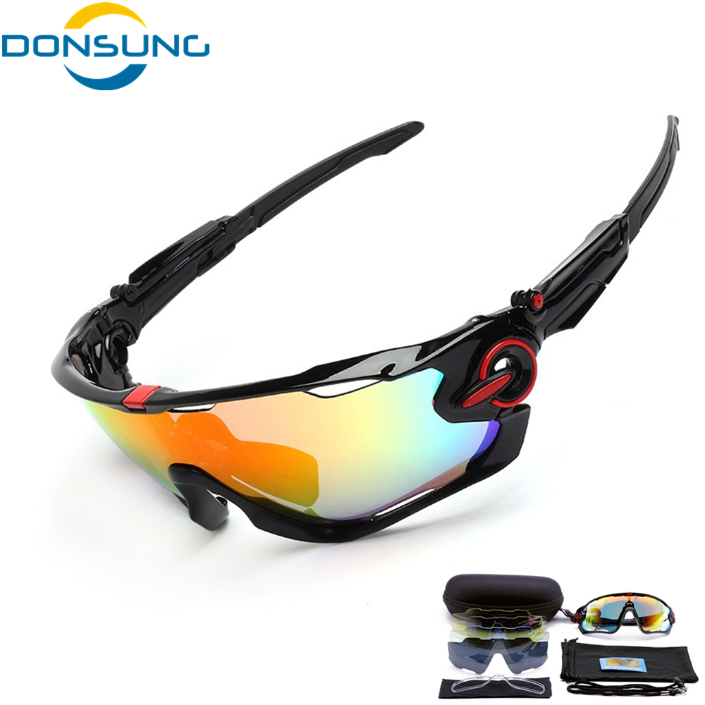 DONSUNG Polarized 5 Lens Cycling Eyewear MTB Bicycle Sun Glasses Cycling Sunglasses Mountain Bike Goggles Gafas de Ciclismo feidu мода steampunk goggles sunglasses women men brand designer ретро side visor sun round glasses women gafas oculos de sol