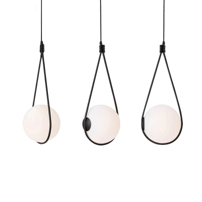 Nordic Glass Ball Lampshade Pendant Light For Bedside Drop Lamp Dinning Table Hanglamp Italy Designer Light Suspension Luminaire