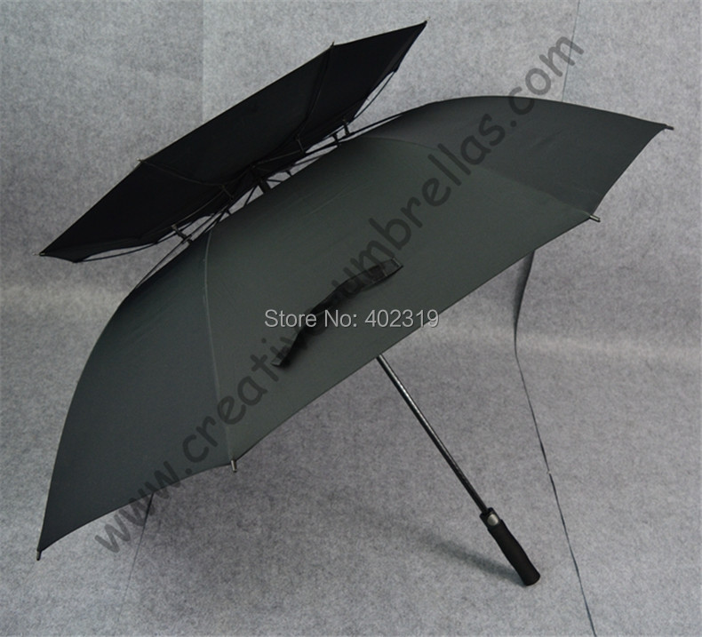 Buy 3 pcs get 1 free Real double layers golf umbrellas.fiberglass,auto open,anti-thunderbolt,anti static,anti electricity