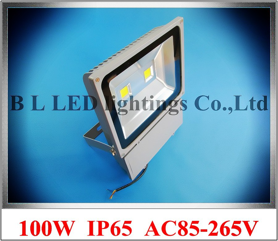 waterproof COB LED flood light 100W (2 X 50W) floodlight spotlight flood lamp outdoor AC85-265V aluminum+tempered glass CE free shipping ip68 10w 20w 30w 50w led cob underground light cob inground light diameter 250mm ac85 265v led outdoor lamp