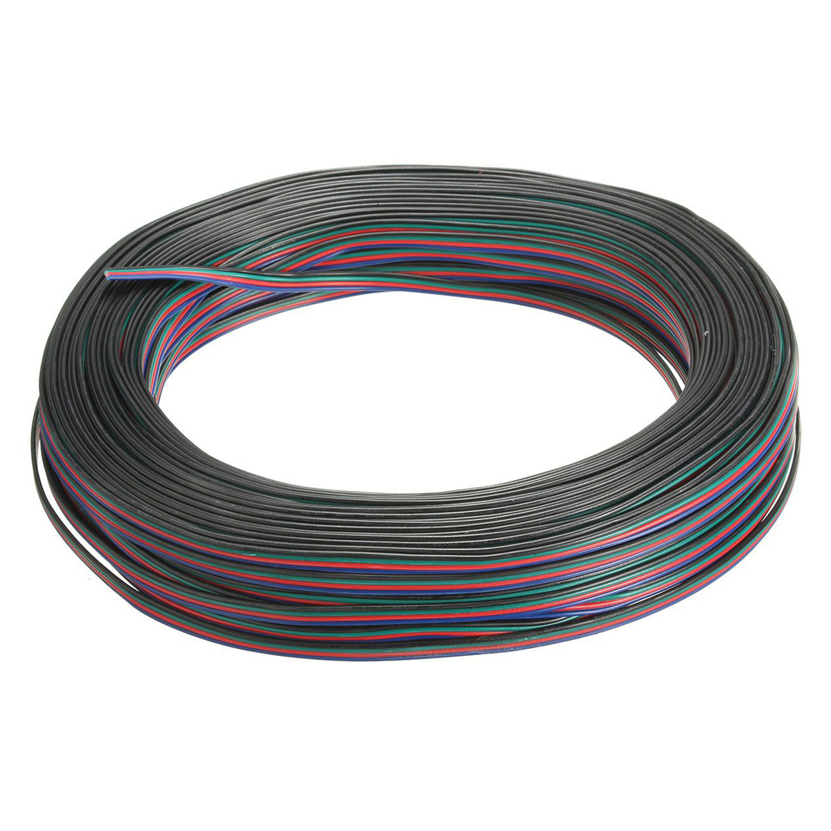 Top quality 4 Pin Wire Extension Connector Cable Cord For LED RGB Strip 3528 5050 Connector Colourful 50M