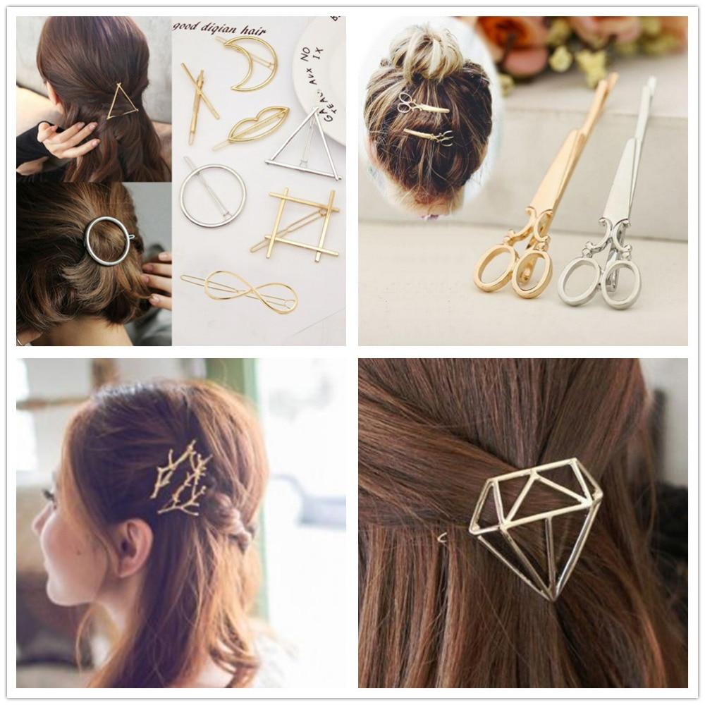 Horquillas de metal a la moda accesorios para el cabello