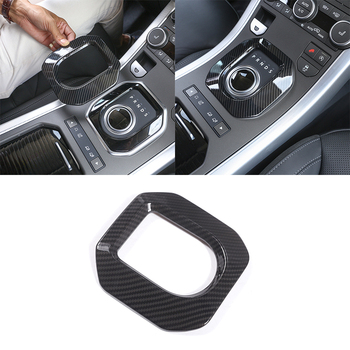 New! Carbon Fiber Style ABS Plastic Gear Shift Frame Cover Trim For Land Rover Range Rover Evoque 2012-2017 Car Accessories 1