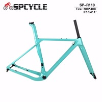 Spcycle T1000 Full Carbon Gravel Bicycle Frames CX Cyclocross Disc Brakes Carbon Frames Wheel Space 700*40c or 27.5*2.1 Tires
