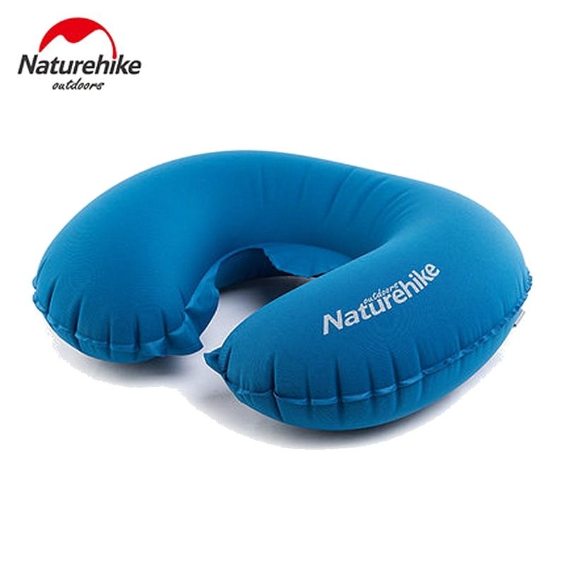 Naturehike Portable U Shape Inflatable Pillow Sleeping Gear Travel Inflatable Cushion Soft Neck Protective HeadRest Plane Pillow 3 in 1 inflatable pillow sleeping eyeshade earplug travel set random color