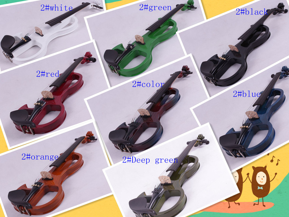4/4 High quality 5 string Electric violin yellow 2# pickup violin 4 4 5