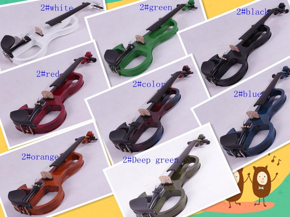 4/4 High quality 5 string Electric violin yellow 2# pickup violin 4 410 string new violin neck man head hand carve high quality 1 2