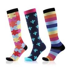 Calcetines de compresión (3 pares), 20 30mmHg es el mejor calcetín atlético y médico graduado para hombres y mujeres, correr, volar, Viajes