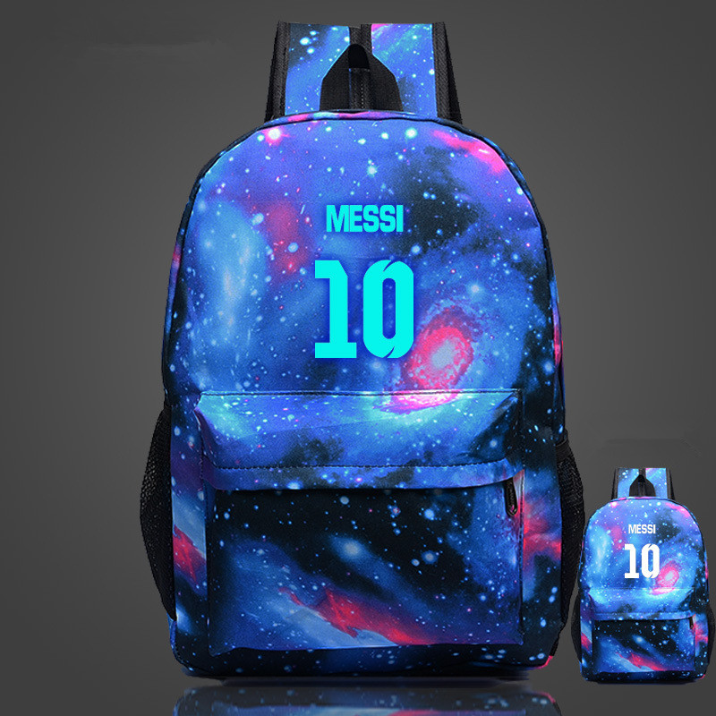 Messi Printing Teenagers School Book Backpacks  Bag Shoulder Bags Travel Bag Mochila Escolar