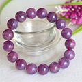 Wholesale Natural Genuine Purple Pink Ruby Bracelet Smooth Round beads Finished Stretch Bracelets 8-13mm 04362