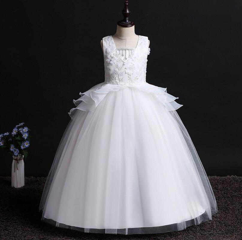 It's YiiYa   Flower     Girl     Dresses   5 Colors Sleeveless O-Neck Floor Length   Girls   Pageant   Dresses   Vestidos De Noches Para Ninas 739