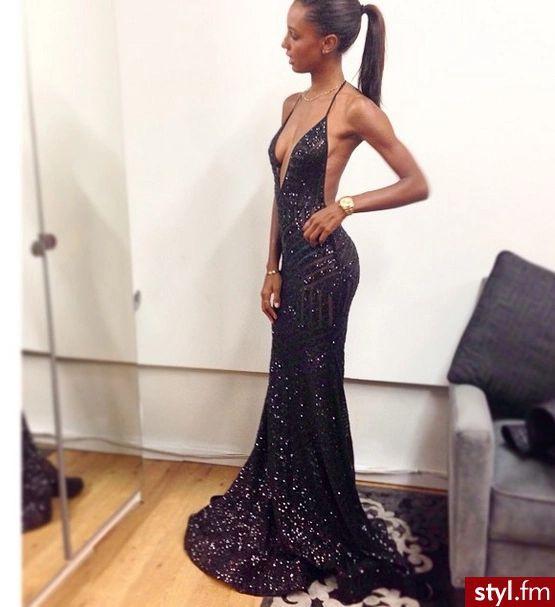 Black Sparkle Prom Dresses