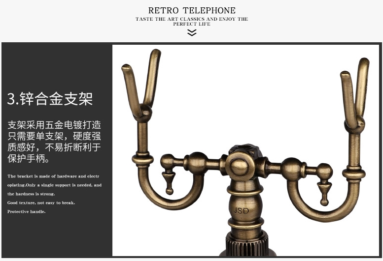US $72 0 |JSD antique telephone dial swivel plate telephone-in Telephones  from Computer & Office on AliExpress