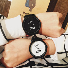 Fashion Brand HBA Leather Strap Unisex Watches Men Quartz Women Dress Watch Sports Military Relojes Geneva Wristwatch AB318