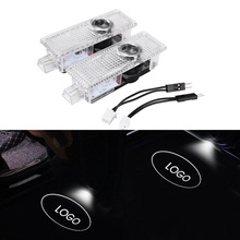 лучшая цена 3D LED Welcome Light Door HD Shadow Projector Lights Original Welcome Lamps Replacement For Land Rover
