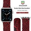Новейший ремешок для часов Apple Watch  ремешок из натуральной змеиной кожи для Apple  1  2  3  ремешок для часов iWatch 38-42 мм