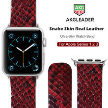 Ремешок для часов apple watch 38 42 мм браслет из Натуральной