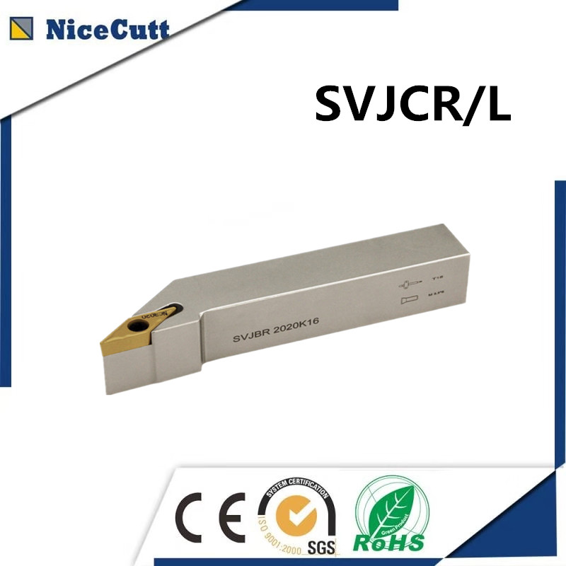 SVJCR/L 1212/1616/2020/2525  Nicecutt External Turning Tool Holder For VCMT Insert Lathe Tool Holder