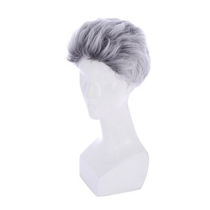 Image 3 - L email wig New Movie Carlos Character Cosplay Wigs 25cm Short Mixed Color Heat Resistant Synthetic Hair Perucas Cosplay Wig