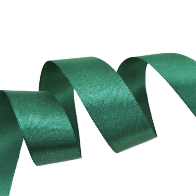 (25 ярдов/рулон) 40 мм Atrovirens Тесьма украшение лента Одноместный Уход за кожей лица атласная лента Подарочная Рождество Ленты