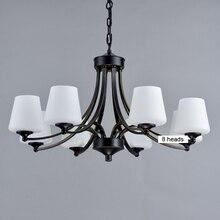 Europa América lámpara de araña de hierro y cristal de estilo rural, lámpara antigua retro vintage de 3, 5, 6 y 8 brazos, lámpara colgante de cadena