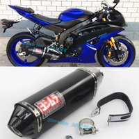 Slip On For YZF R6 Motorcycle Exhaust Pipe Escape Special Modified Carbon Yoshimura Muffler With DB Killer For Yamaha R6 2006 15