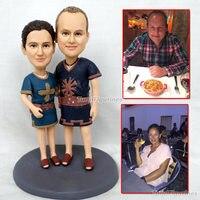 Куклы смолы фигурка куклы, лицо для любителей пара подарок ручной работы специальные ООАК куклы статуи на картинке лицо изготовление под за
