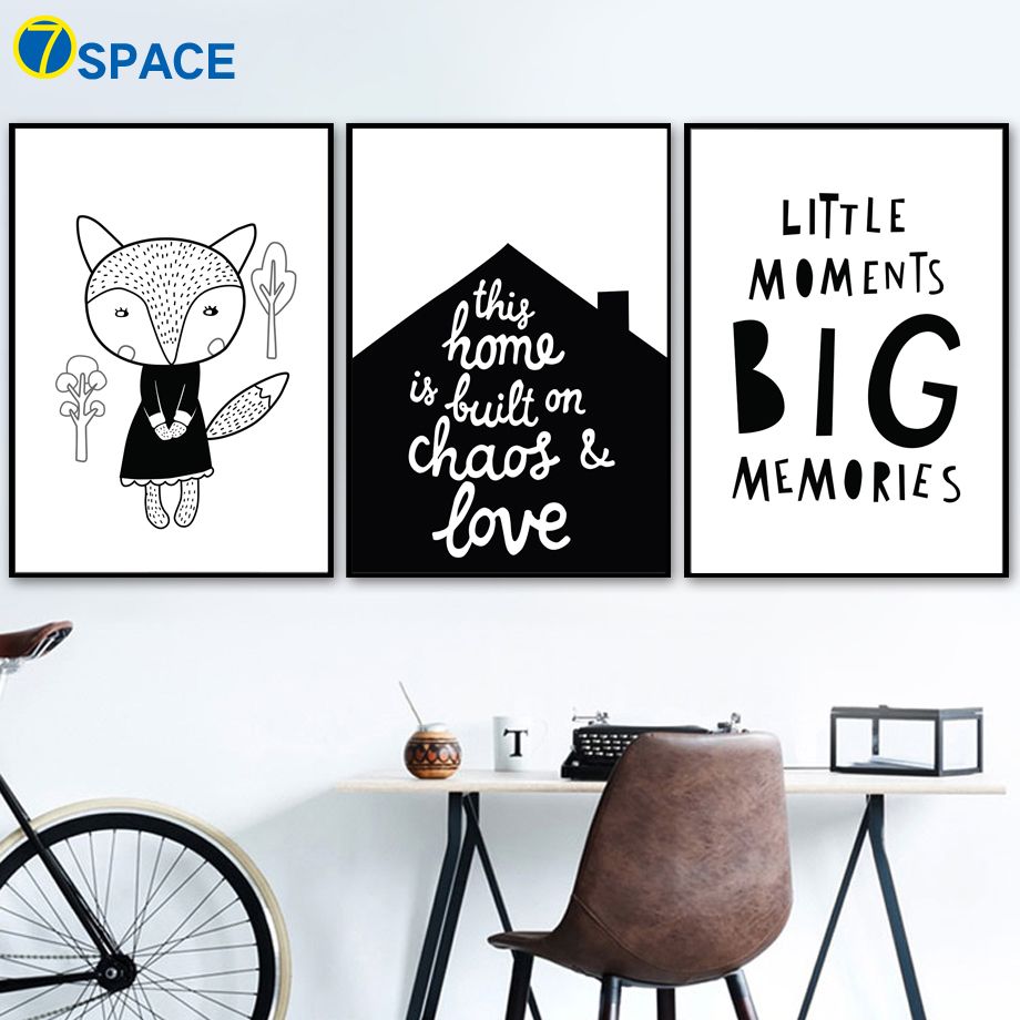 ᐅ7 Space Fox Love Quotes Wall Art Nordic Posters And Prints Canvas