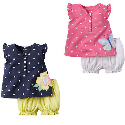 Butterfly Flower Newborn Baby Girls Kids Clothes Tops+Shorts Pants 2pcs Girl Set