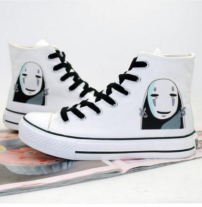 82ac860caed3 New male female print lolita Canvas shoes Spirited Away cos No Face Frog  rock plimsolls shoes Harajuku High layer lovers shoes-in Men s Casual Shoes  from ...