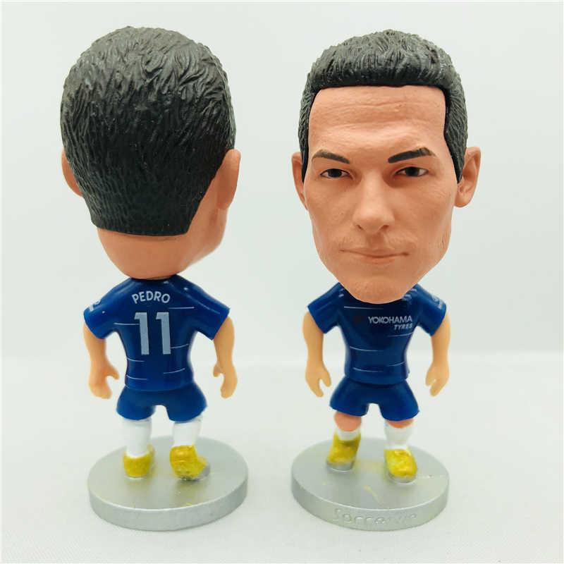 Soccerwe Pedrito Pedro Ledesma Doll CHE^LSEA 11# Football Team 2019 Season  Blue Kit Striker Figurine 2 6 Inches Height Resin