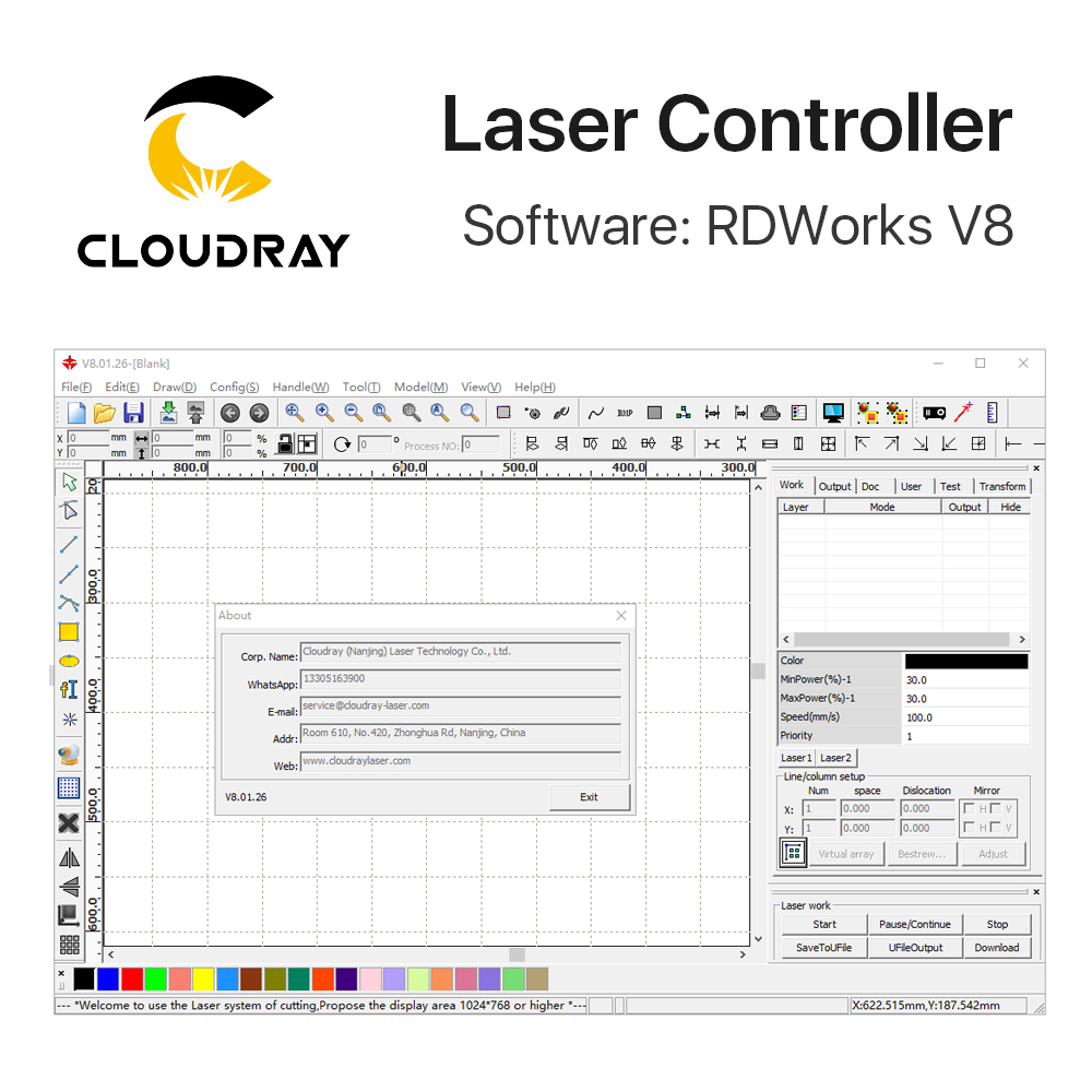Controller DSP Laserray Ruida RD RDC6442G Co2 per macchina per - Macchine utensili e accessori - Fotografia 4
